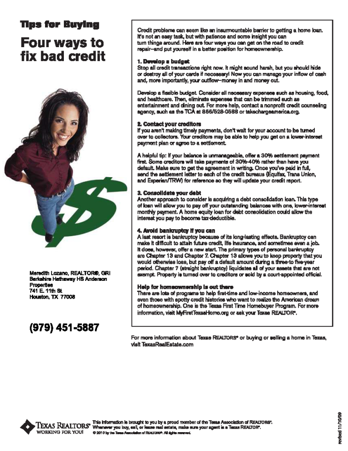 4 Ways to Fix Bad Credit2